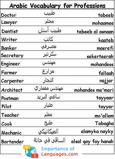 Learn Arabic Vocabulary Lists for Months, Animals, and More!